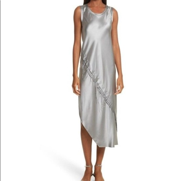 1414af95080e Helmut Lang Dresses | Silk Tank Dress In Gray Pebble Medium | Poshmark